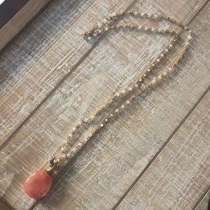 Jewelry - Pretty Crystal Necklace with Bead Detail